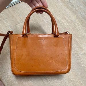 Clare V. Paul Supreme Small Leather Mini Tote